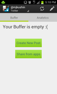 Bufferapp-android-queue