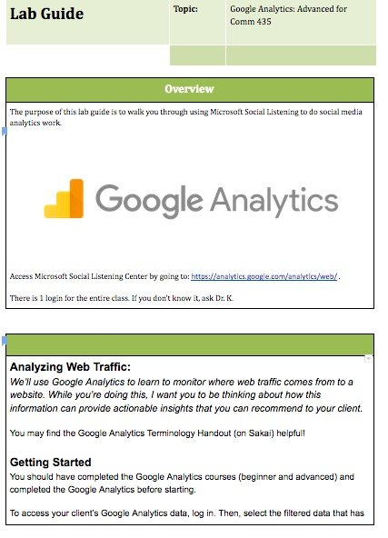 google analytics step by step assignment lab