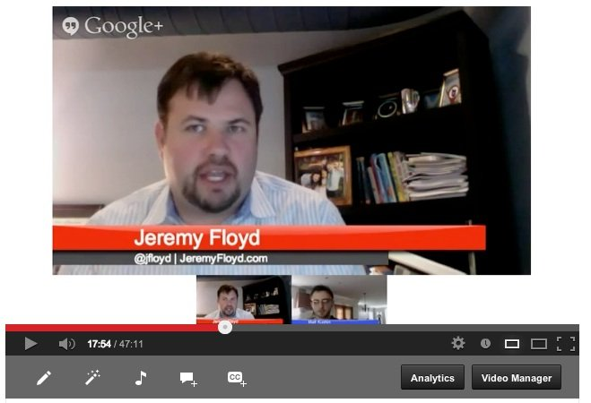 Interview with social media marketing professor Jeremy Floyd (G+ Hangout)