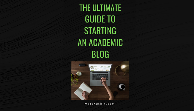 how to start a phd blog